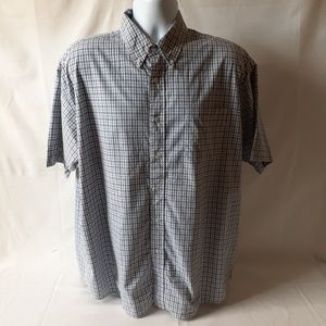 Wrangler men's plaid short-sleeve button-down